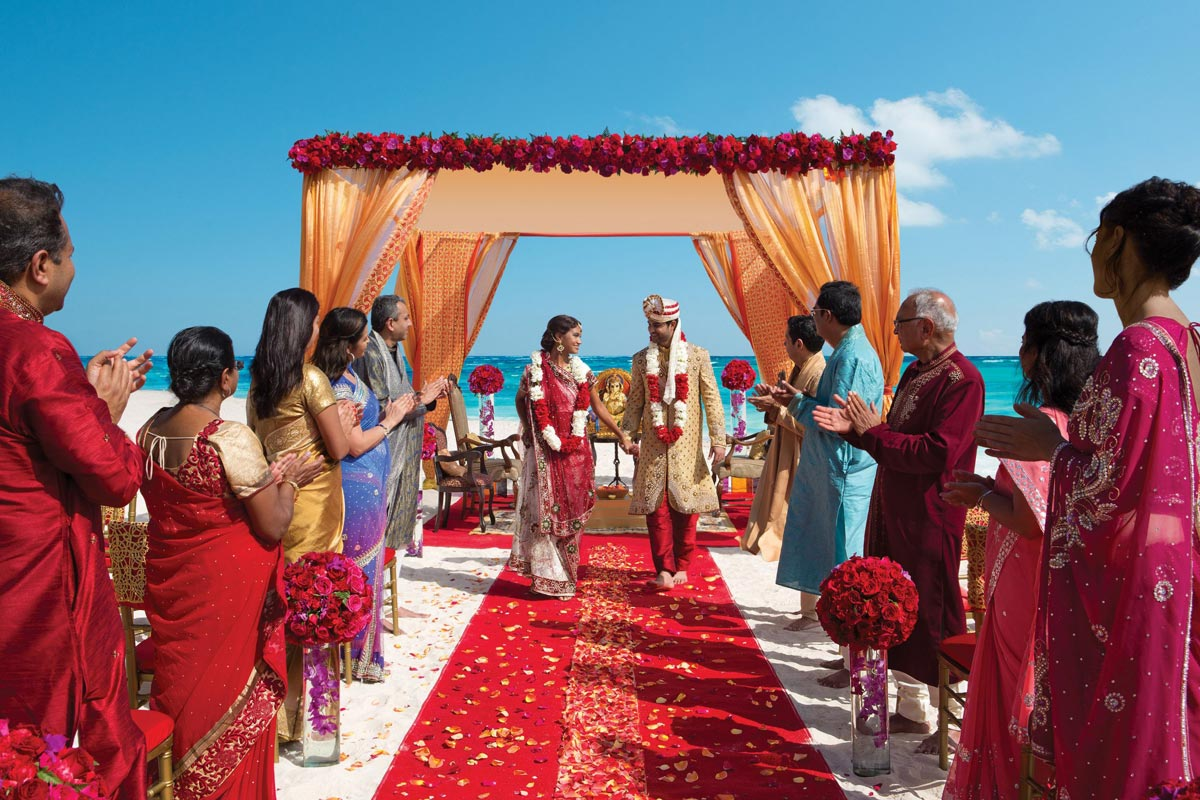 south asian cancun wedding